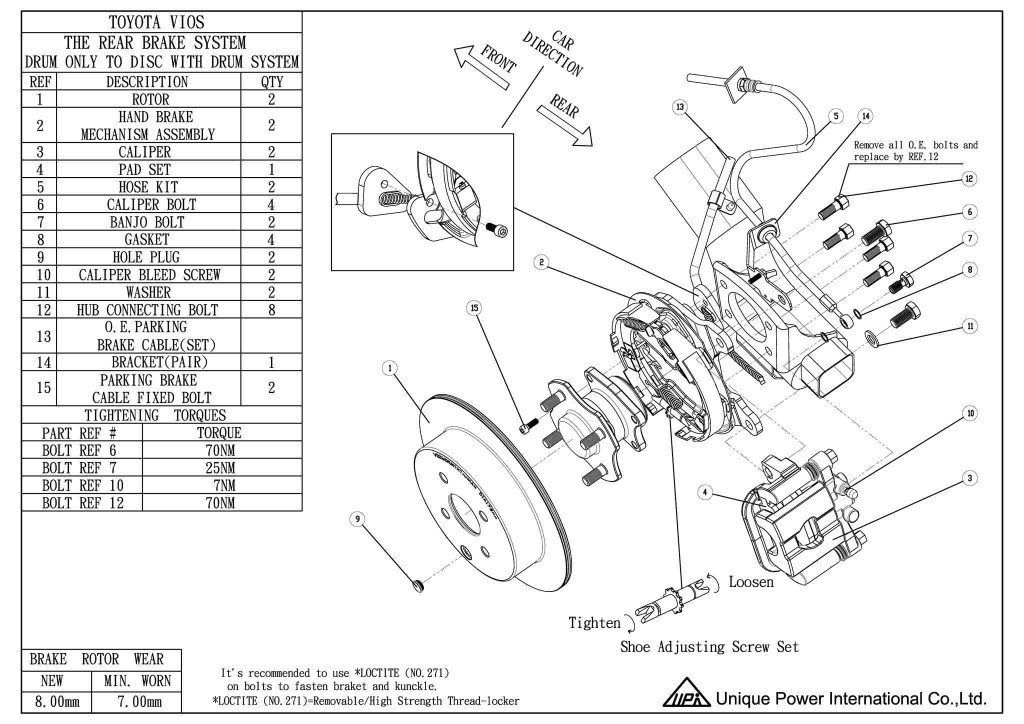 toyota tacoma parking brake diagram