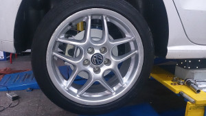 VW Polo upgrade to UPI rear drum to disc conversion brake system