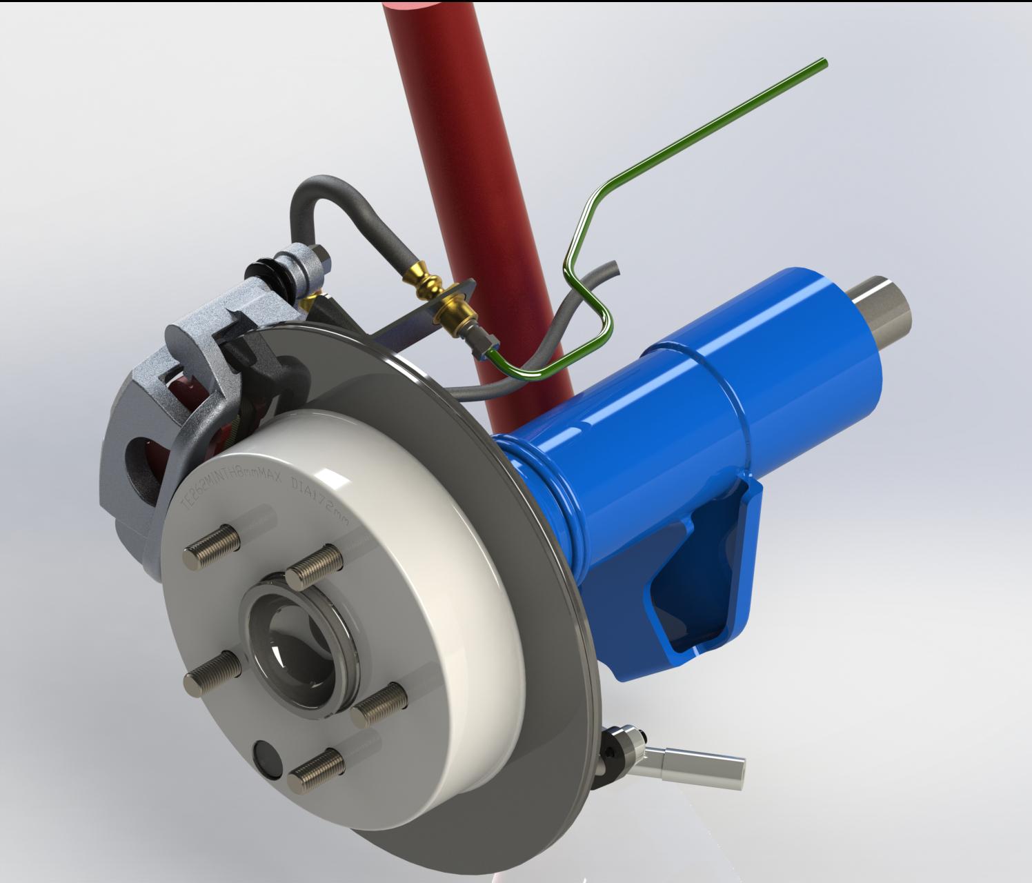 Rear Drum To Disc Kit Design For Daihatsu Terios Rush Brakes Brake Isometrical