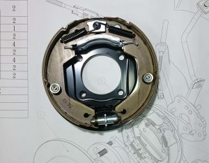 Drum in Diec - Parking mechanism for Ford Focus MK2 series.