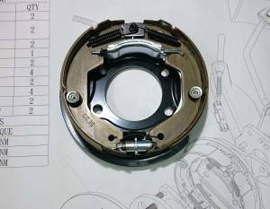 Drum in Diec - Parking mechanism for Ford Focus MK3 series.