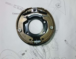 Drum in Diec - Parking mechanism for Ford Focus MK3 ST series.