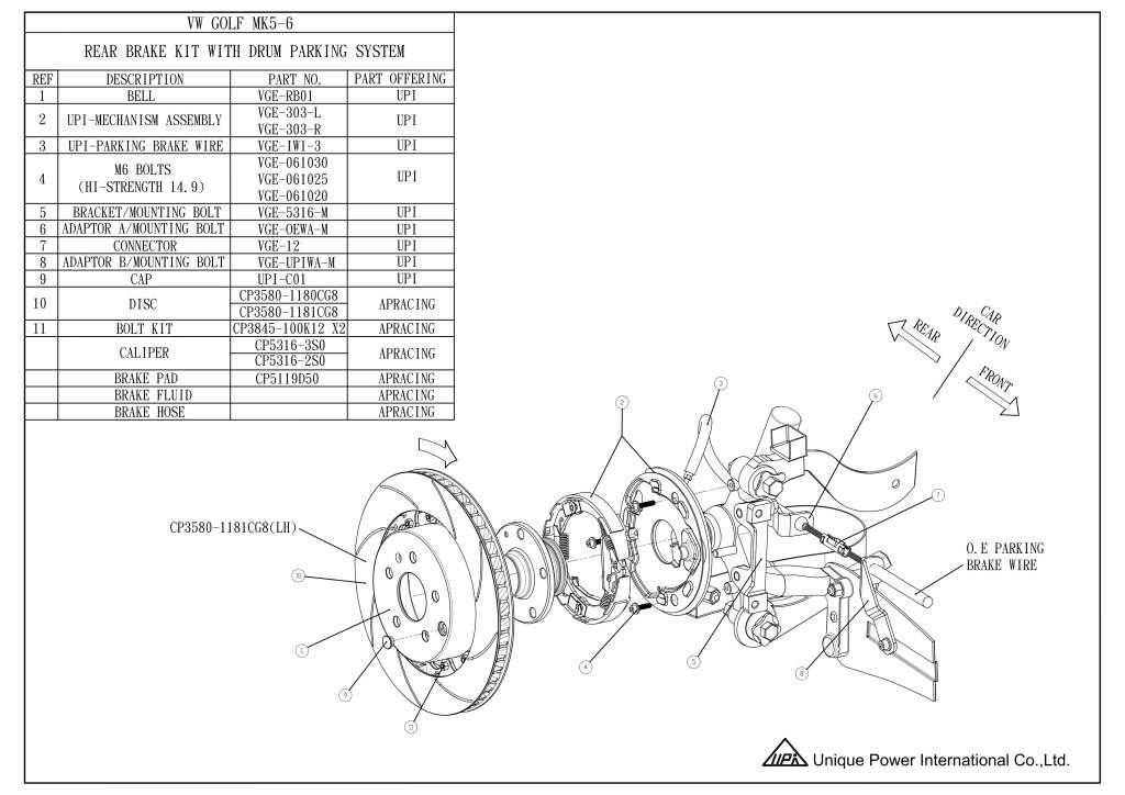 AP Racing CP5316 Rear drum in disk brake kit
