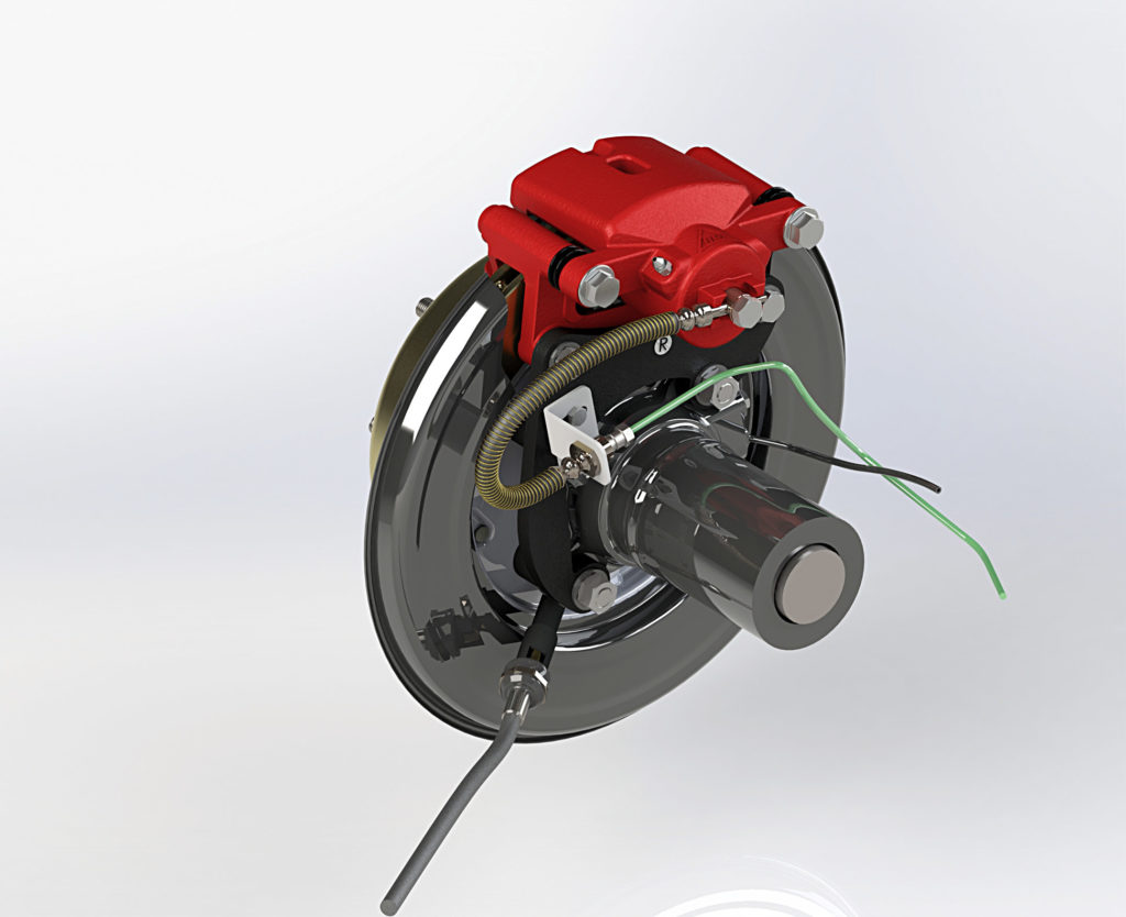 D-max Rear Drum to Disc Conversion Kit - Simulation 1