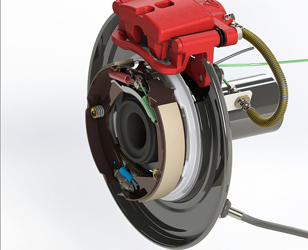D-max Rear Drum to Disc Conversion Kit - Simulation 3