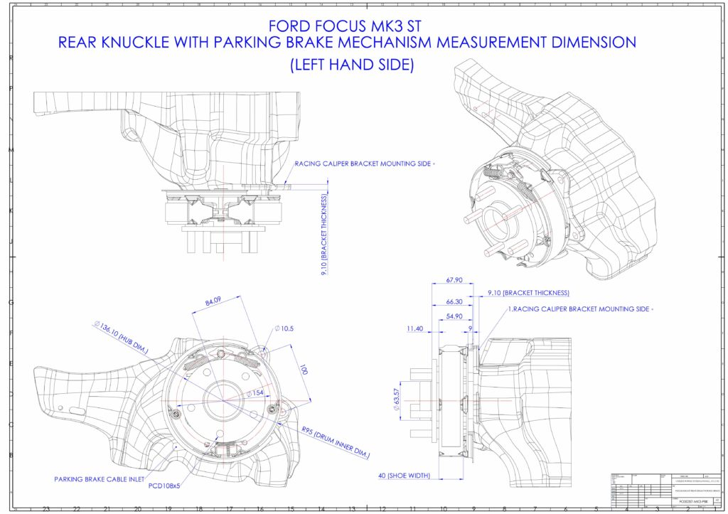 Ford Focus MK3 ST Dimension