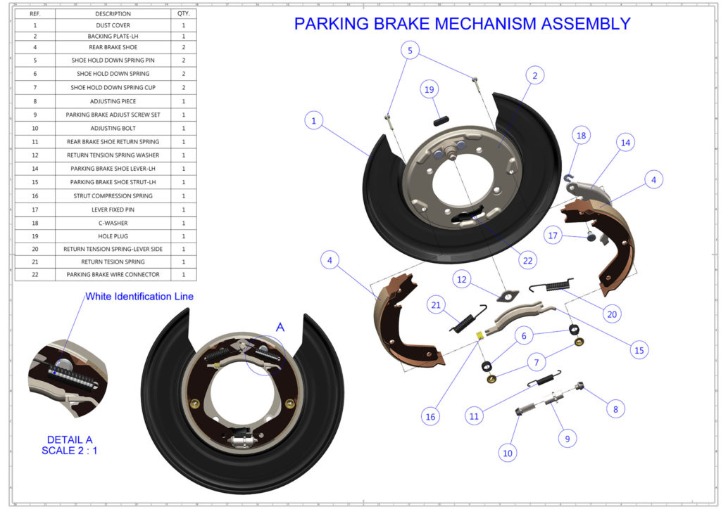 PARKING BRAKE MECHANISM ASSEMBLY