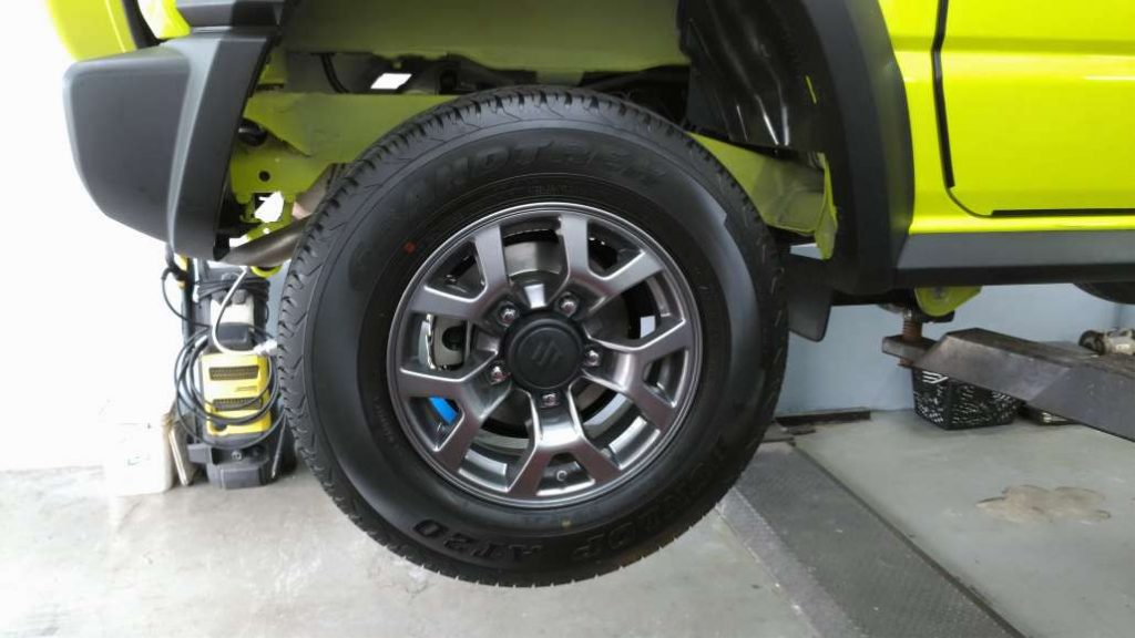 Suzuki Jimny rear drum to disc conversion kit